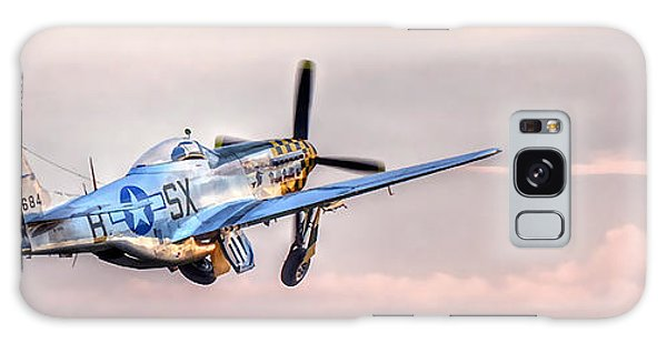 P-51 Mustang Taking Off Galaxy Case