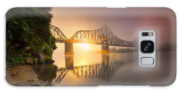 P And Le Ohio River Railroad Bridge Galaxy Case