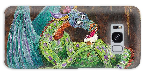Dragons Love Ice Cream Galaxy Case by Charles Cater