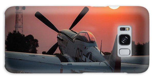Galaxy Case featuring the photograph P51 Sunset by Paul Job