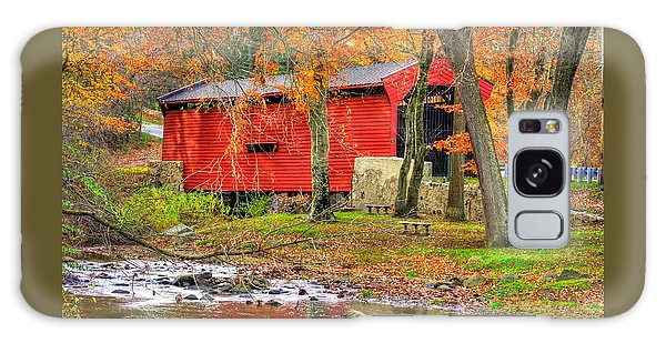 Pa Country Roads- Bartrams / Goshen Covered Bridge Over Crum Creek No.11 Chester / Delaware Counties Galaxy Case