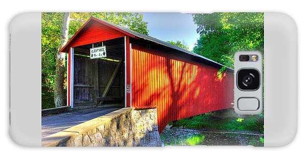 Pa Country Roads - Witherspoon Covered Bridge Over Licking Creek No. 4b - Franklin County Galaxy Case