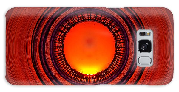 Pacific Beach Pier Sunset - Abstract Galaxy Case by Peter Tellone