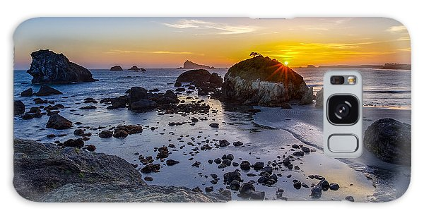 Pacific Ocean Northern California Sunset Galaxy Case