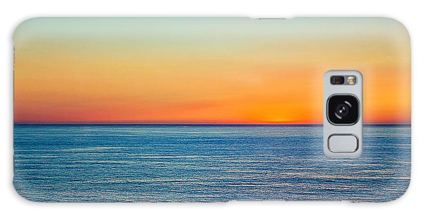 Pacific Ocean Sunset Galaxy Case by April Reppucci