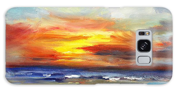 Cloudscape Galaxy Case - Pacific Sunset Glow by Nancy Merkle