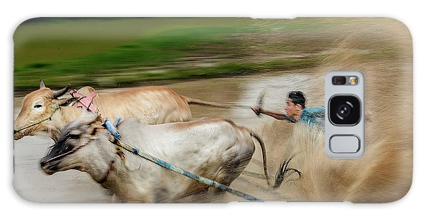 Galaxy Case featuring the photograph Pacu Jawi Bull Race Festival by Pradeep Raja Prints