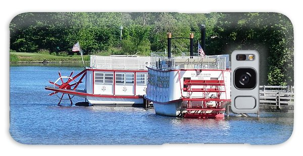 Paddleboat On The River Galaxy Case
