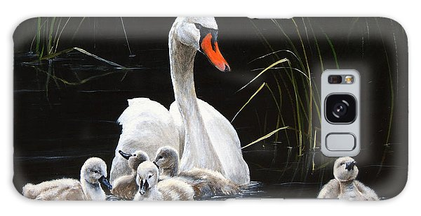 Gosling Galaxy Case - Paddling To A Different Drummer by Dreyer Wildlife Print Collections