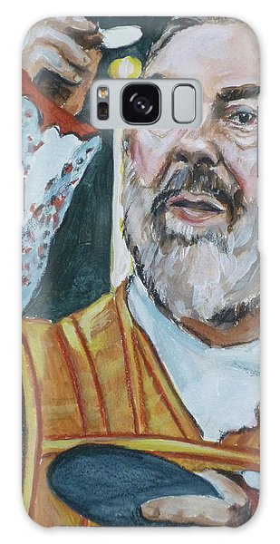 Padre Pio Galaxy Case by Bryan Bustard