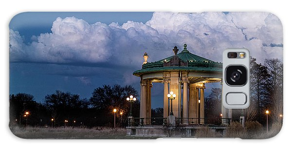 Pagoda At Sunset In Forest Park Galaxy Case by Garry McMichael
