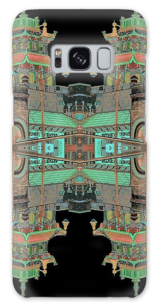 Galaxy Case featuring the photograph Pagoda Tower Becomes Chinese Lantern 1 Chinatown Chicago by Marianne Dow