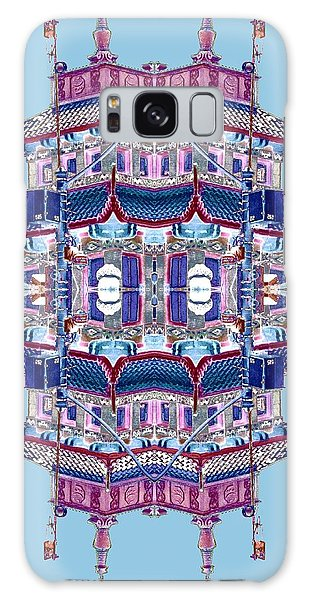 Galaxy Case featuring the photograph Pagoda Tower Becomes Chinese Lantern 2 Chinatown Chicago by Marianne Dow