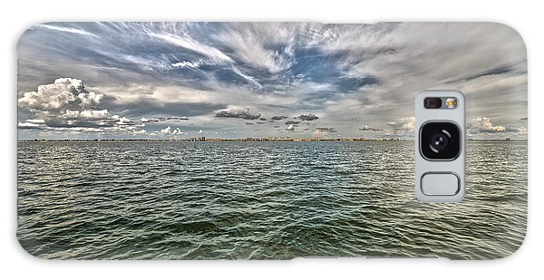 Paint Brush Sky - Ft Myers Beach Galaxy Case by Christopher L Thomley