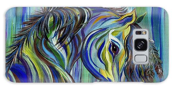 Paint Native American Horse Galaxy Case