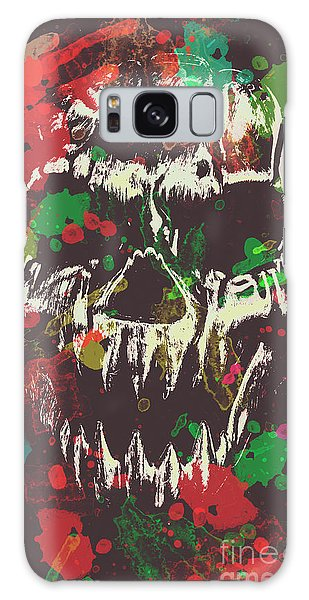 Splash Galaxy Case - Paint Splash Skull by Jorgo Photography - Wall Art Gallery