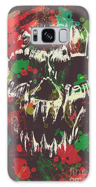 Splash Galaxy Case - Paint Splash Skull by Jorgo Photography - Wall Art Gallery
