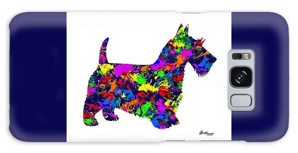Paint Splatter Scottish Terrier Galaxy Case