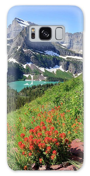 Paintbrush Above Grinnell Lake Galaxy Case