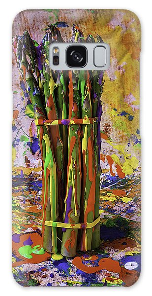 Painted Asparagus Galaxy Case by Garry Gay