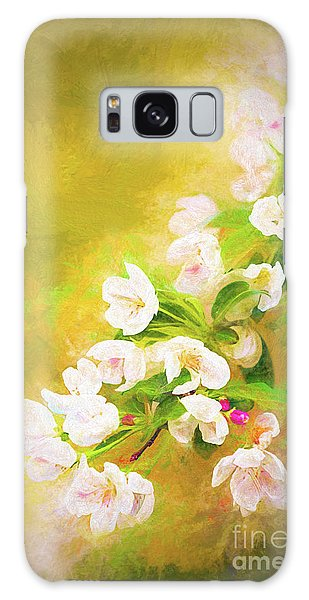 Painted Crabapple Blossoms In The Golden Evening Light Galaxy Case