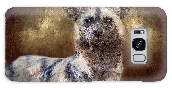 Painted Dog Portrait II Galaxy Case