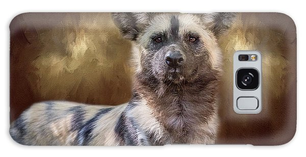 Painted Dog Portrait II Galaxy Case