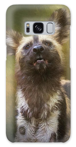 Painted Dog Portrait Galaxy Case