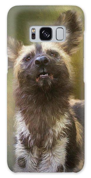 Painted Dog Portrait Galaxy Case