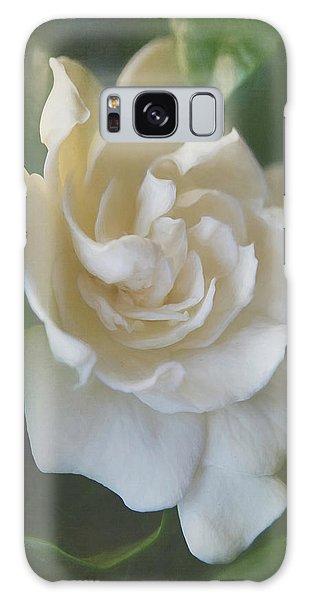 Gardenia Galaxy Case - Painted Gardenia Blossom by Teresa Wilson