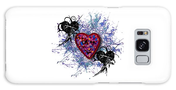 Painted Heart 3 Galaxy Case by Christine Perry