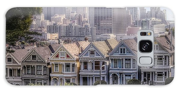 Painted Ladies Of Alamo Square Galaxy Case by Mary Lou Chmura
