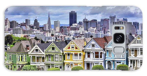 Painted Ladies Of San Francisco  Galaxy Case by Carol Japp