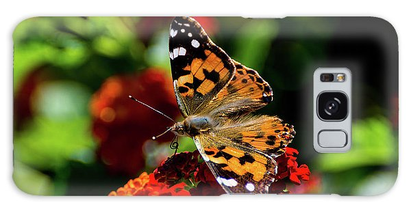 Painted Lady Butterfly Galaxy Case