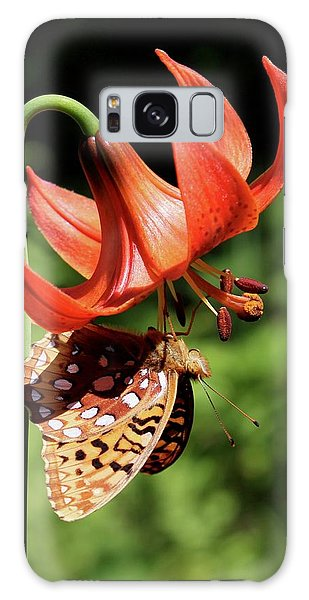 Painted Lady On Lily Galaxy Case