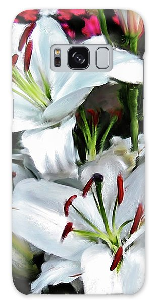 Painted Lilies Galaxy Case