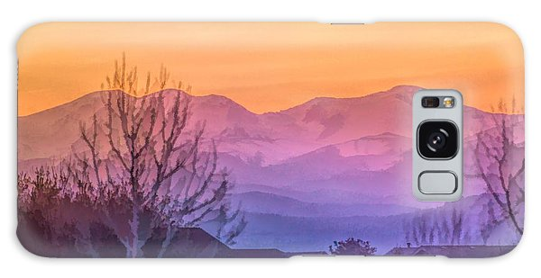 Painted Mountains Galaxy Case