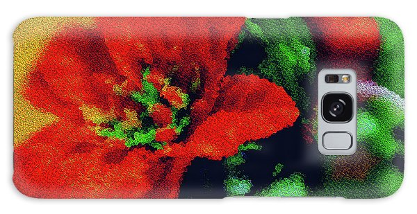Painted Poinsettia Galaxy Case by Sandy Moulder