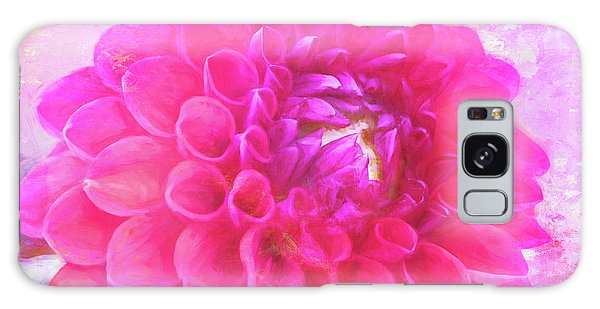 Painted Pompom Dahlia With The Works Galaxy Case