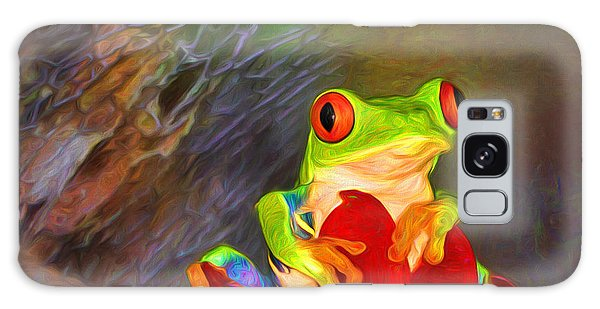 Painted Red Eyed Tree Frog Galaxy Case