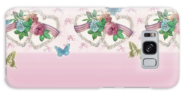Painted Roses With Hearts Galaxy Case
