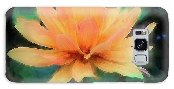 Painted Tangerine Dahlia Galaxy Case