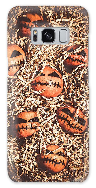 No People Galaxy Case - painted tangerines for Halloween by Jorgo Photography - Wall Art Gallery