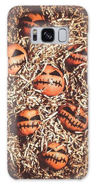 Hiding Galaxy Case - painted tangerines for Halloween by Jorgo Photography - Wall Art Gallery