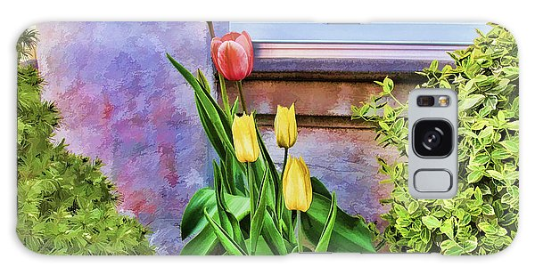 Painted Tulips Galaxy Case