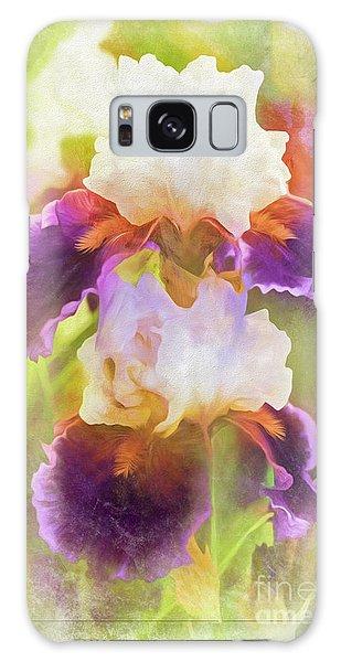 Painterly Bearded Iris Galaxy Case by Eleanor Abramson