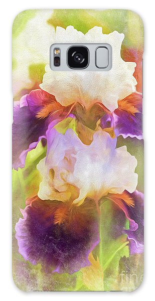 Painterly Bearded Iris Galaxy Case