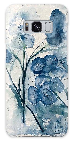 Painterly  Blues Galaxy Case