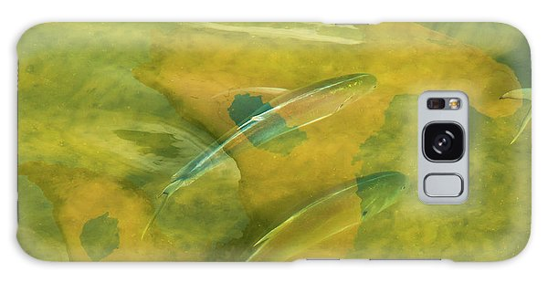 Painterly Fish Galaxy Case by Carolyn Dalessandro