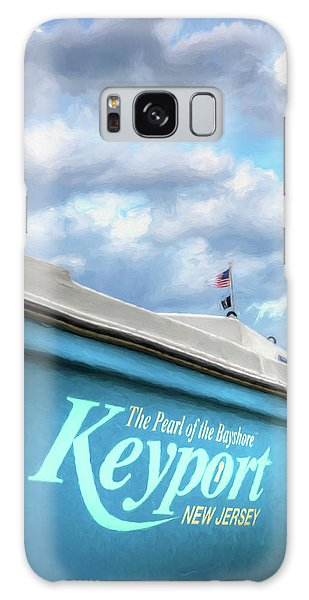 Galaxy Case featuring the photograph Painterly Keyport Sailboat by Gary Slawsky